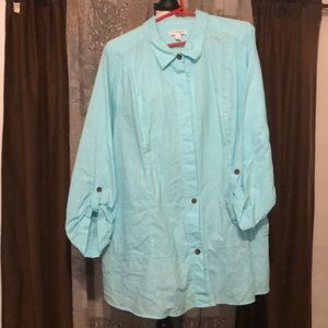 Kim Rogers Curvy Oversized Button-Up